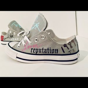 Taylor Swift Custom Converse Girls  Shoes